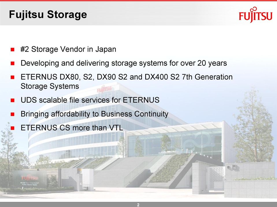 S2 7th Generation Storage Systems UDS scalable file services for