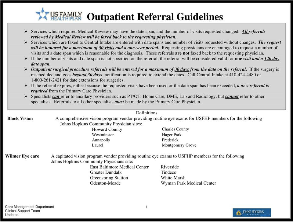 Outpatient Referral Guidelines - PDF