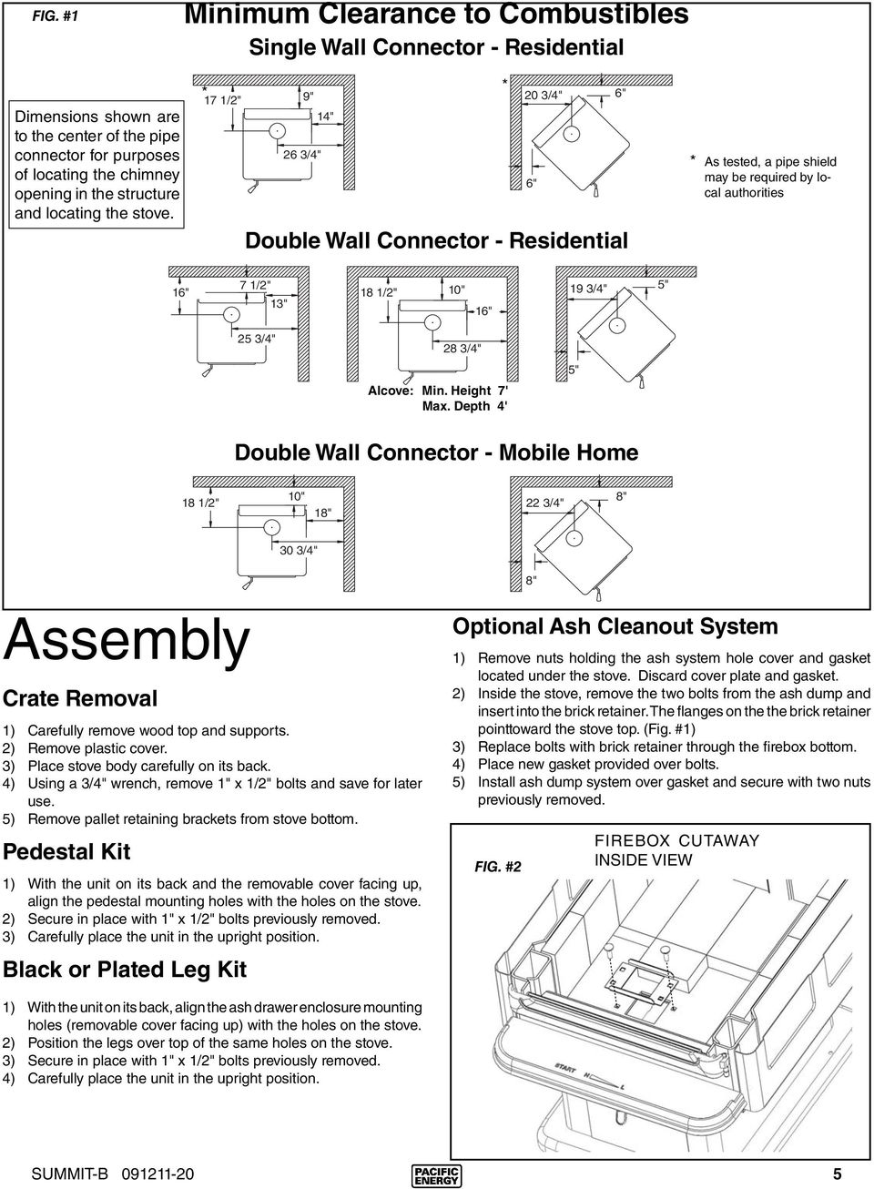 INSTALLATION AND OPERATING INSTRUCTIONS - PDF