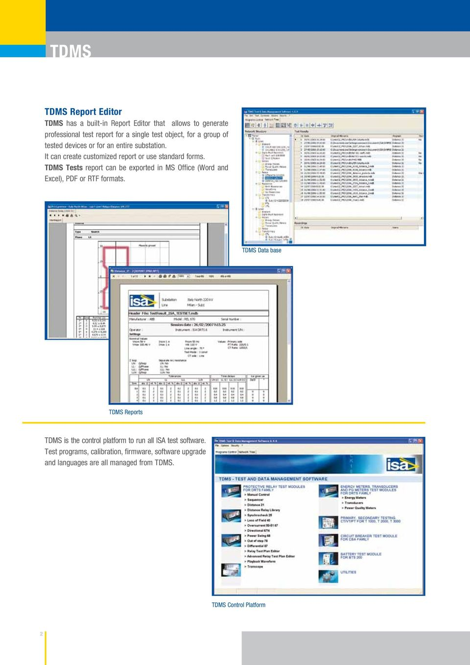 Tdms Test Data Management Software Pdf Logic Diagram In Isa Format Tests Report Can Be Exported Ms Office Word And Excel