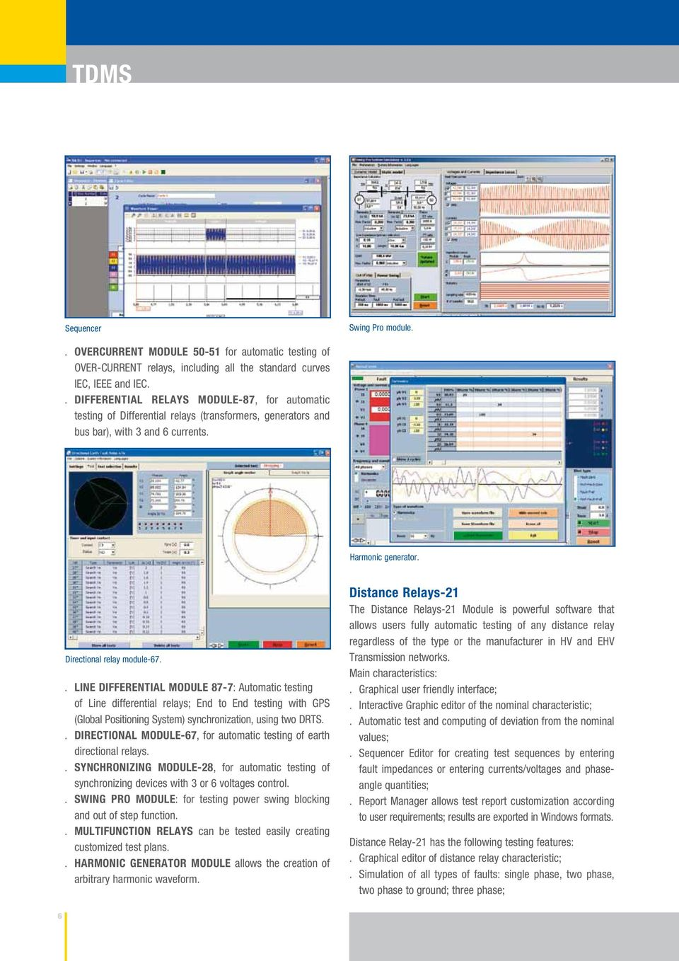 Tdms Test Data Management Software Pdf Relay Nominal Current Line Differential Module 87 7 Automatic Testing Of Relays End