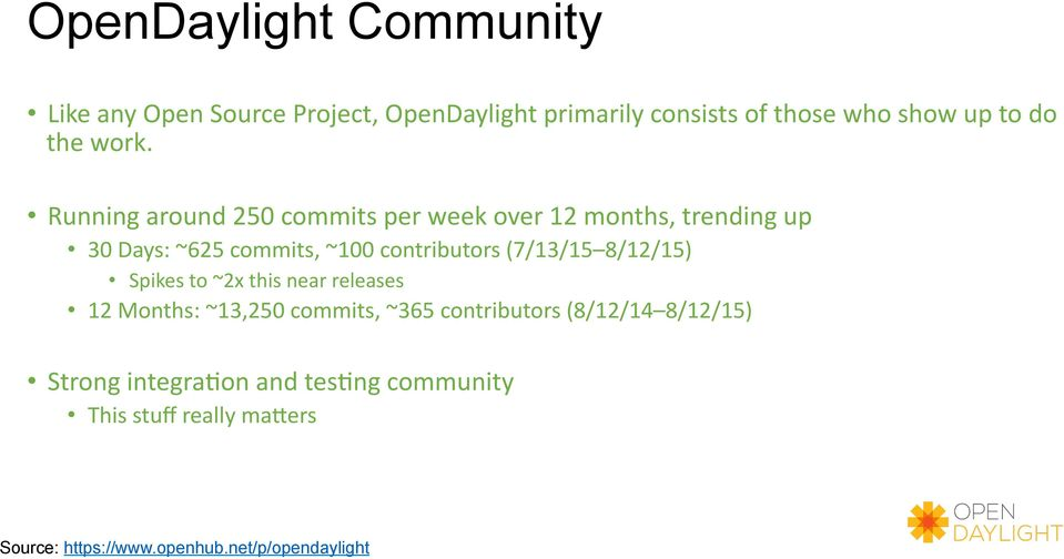 Who Show Up To Do The Work 16 Opendaylight Community