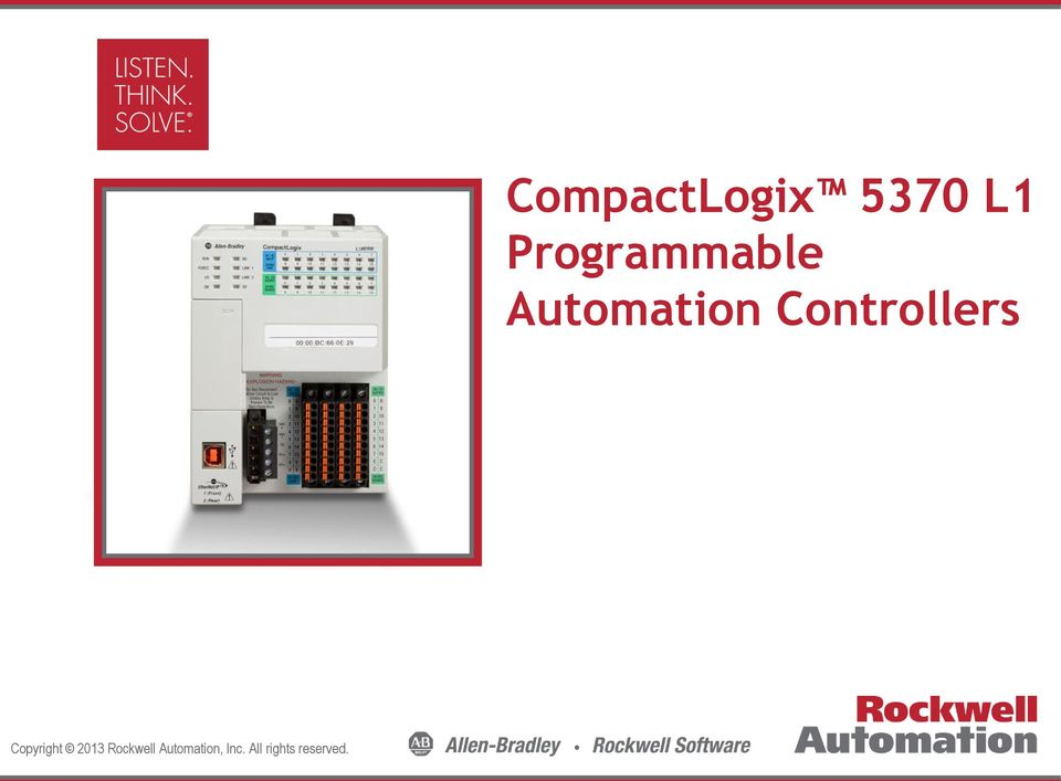 CompactLogix 5370 L1 Programmable Automation Controllers - PDF