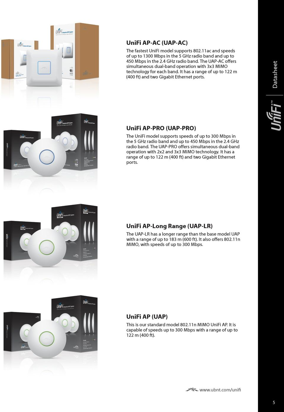 Harga Unifi Ap Long Range Uap Lr Terbaru 2018 Ac Enterprise Wifi System Datasheet Models Pro The Model Supports Speeds
