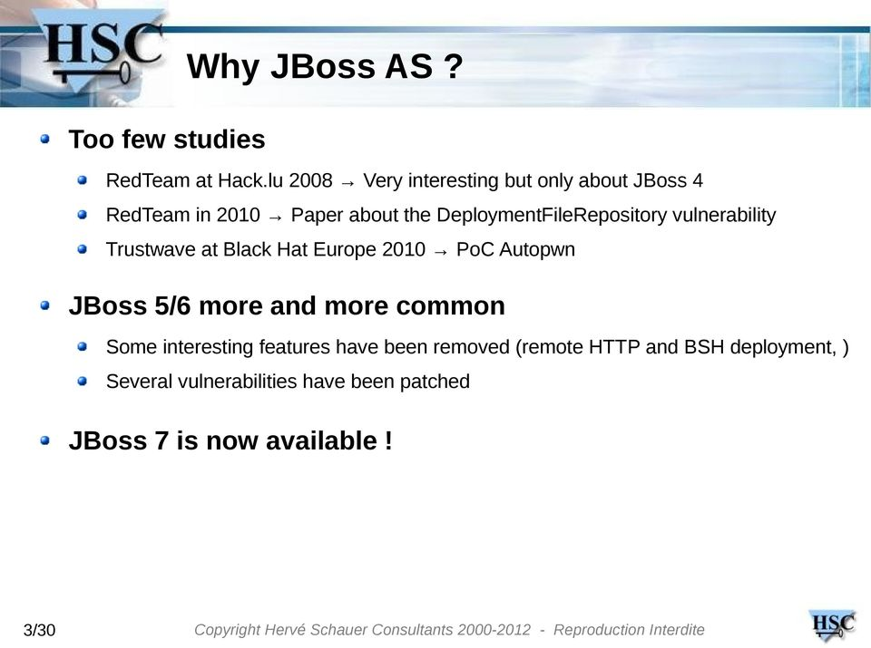 Hacking (and securing) JBoss AS - PDF