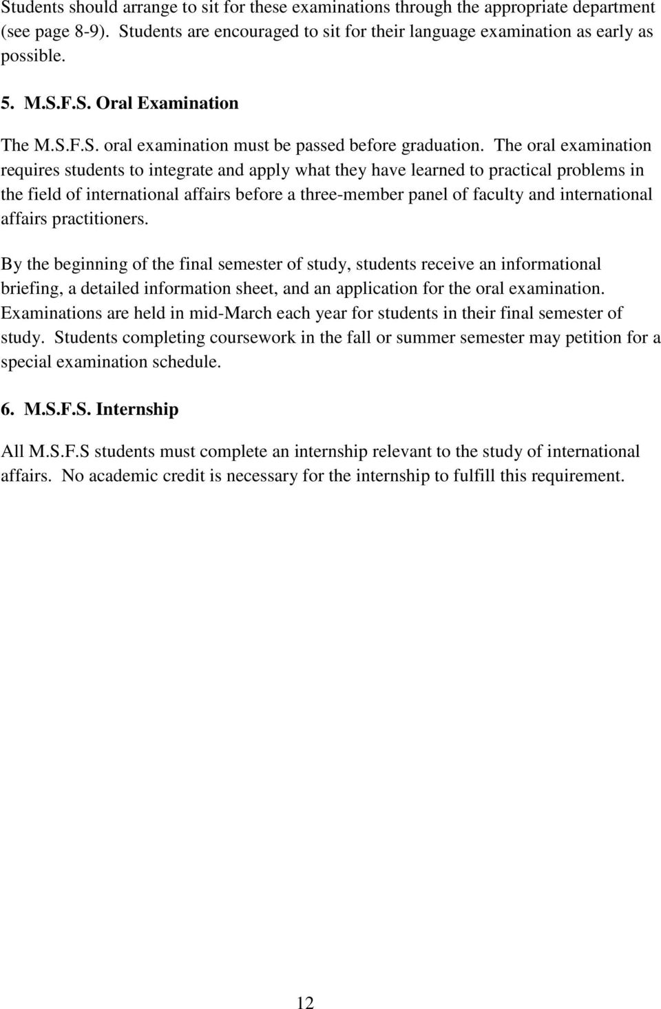 J D /M S F S  (Master of Science in Foreign Service) JOINT