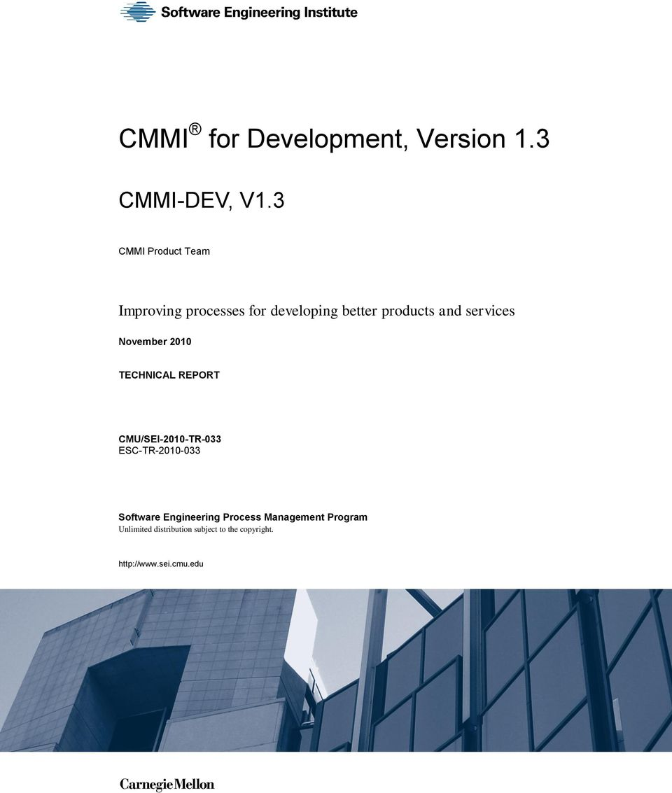 services November 2010 TECHNICAL REPORT CMU/SEI-2010-TR-033 ESC-TR-2010-033