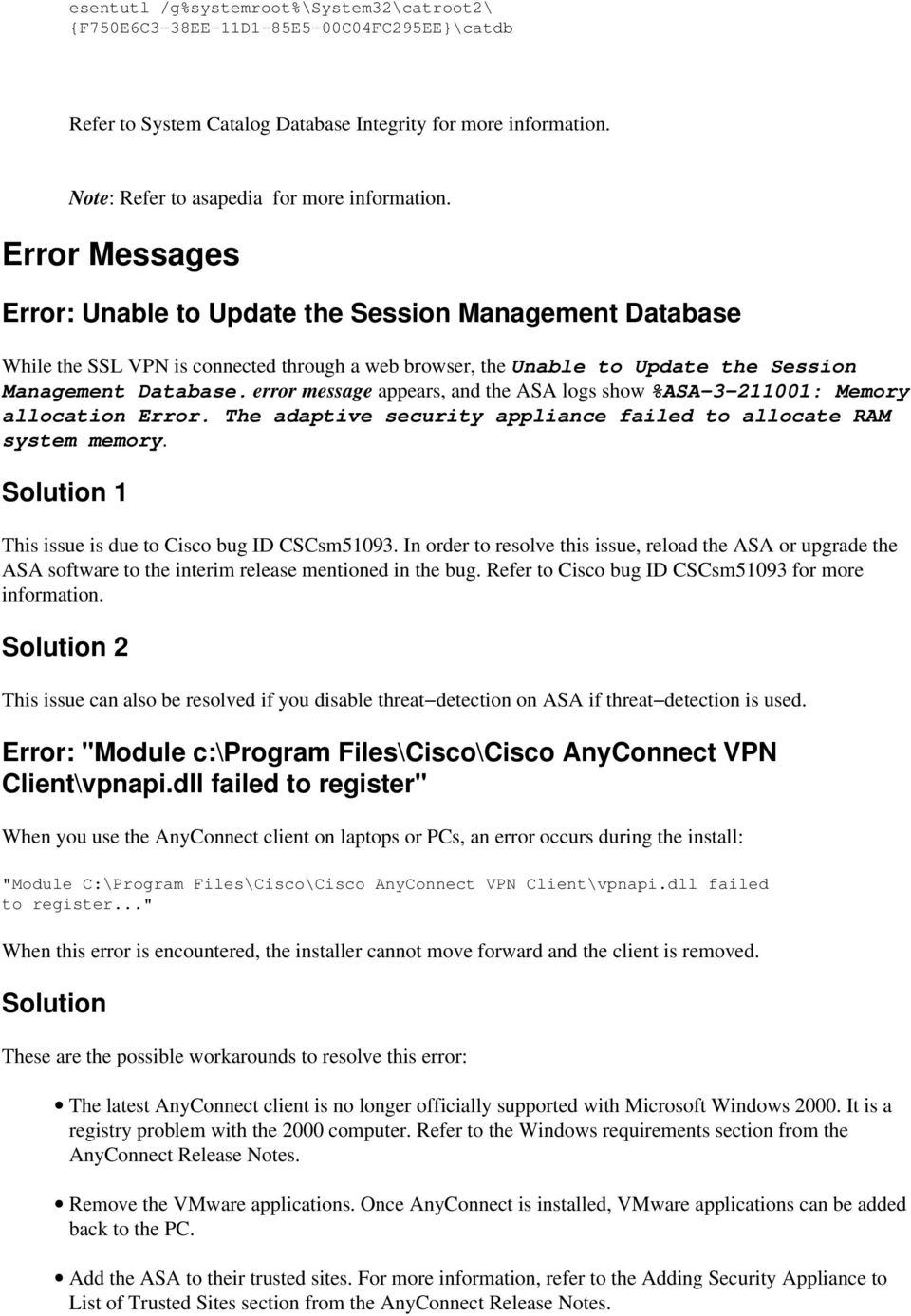 AnyConnect VPN Client Troubleshooting Guide Common Problems - PDF