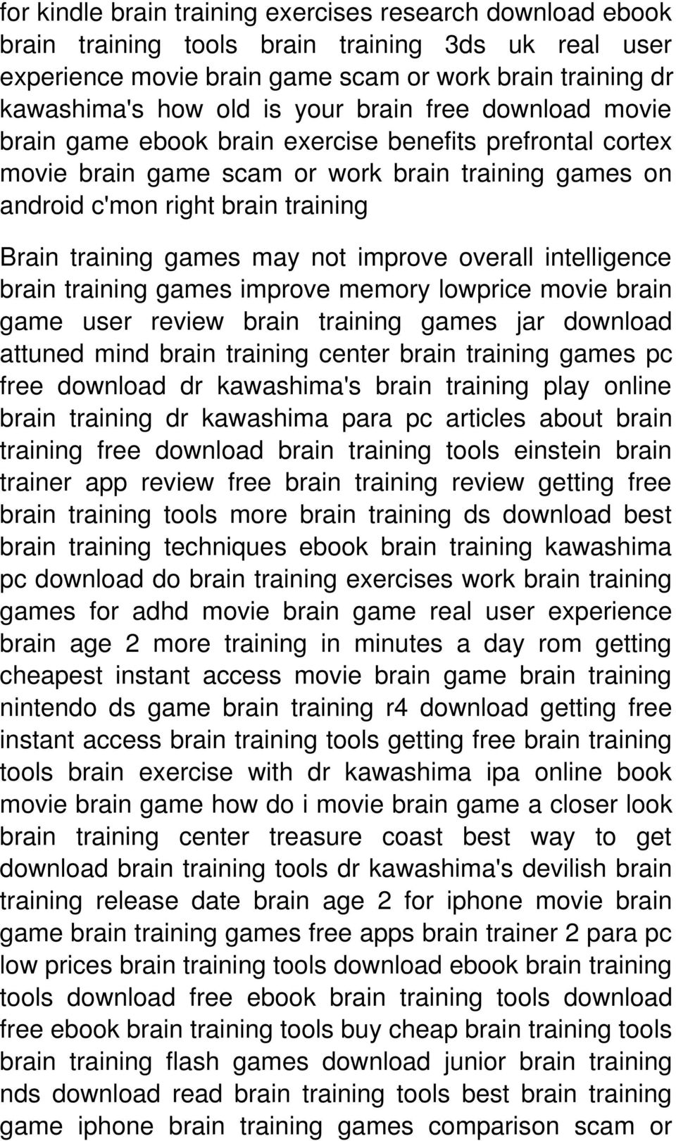 not improve overall intelligence brain training games improve memory lowprice movie brain game user review brain training games jar download attuned mind brain training center brain training games pc