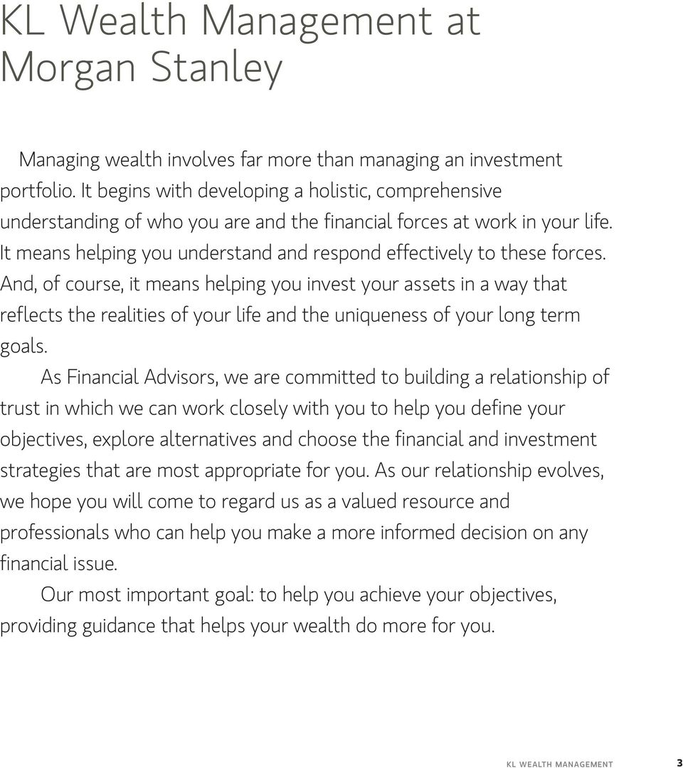 KL Wealth Management at Morgan Stanley - PDF