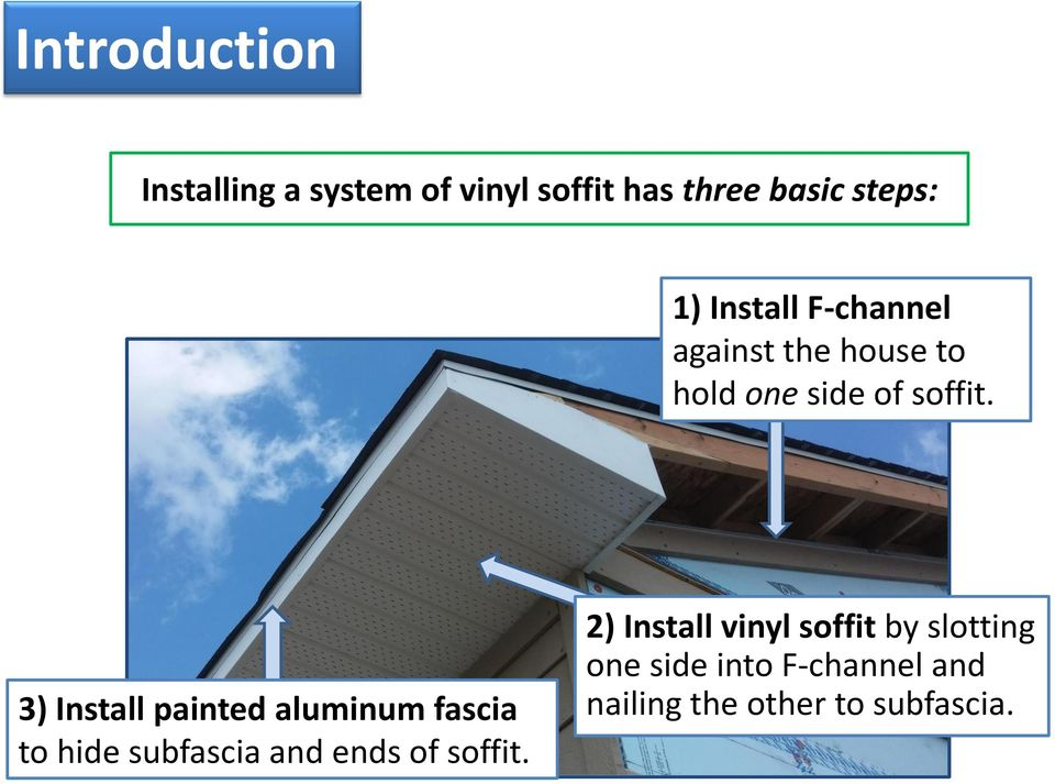 Plans will call for one of two soffit/fascia details: - PDF