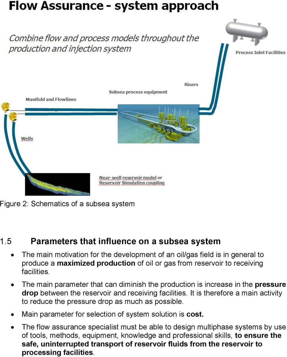 Flow Assurance A System Perspective Pdf Process Diagram Oil And Gas Production The Main Parameter That Can Diminish Is Increase In Pressure