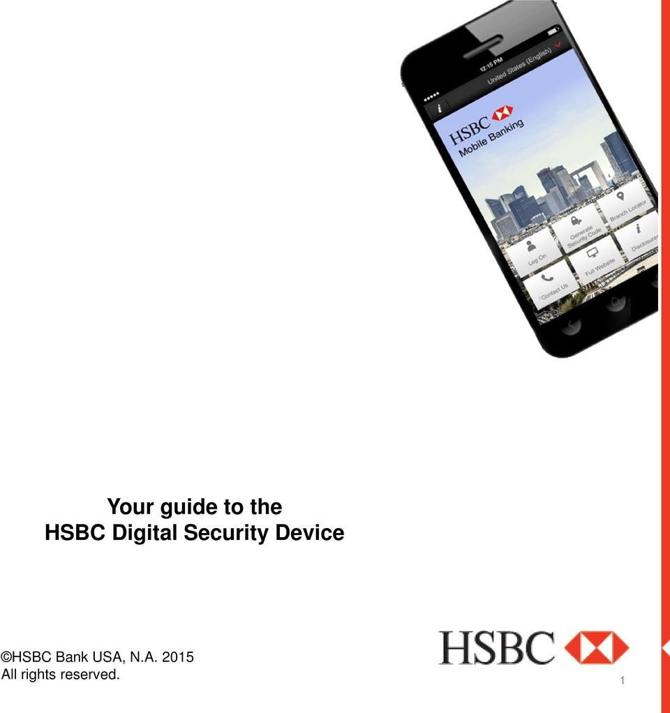 Your guide to the HSBC Digital Security Device  HSBC Bank