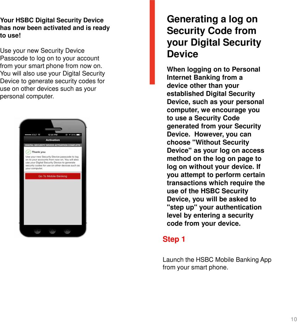 Your guide to the HSBC Digital Security Device  HSBC Bank USA, N A