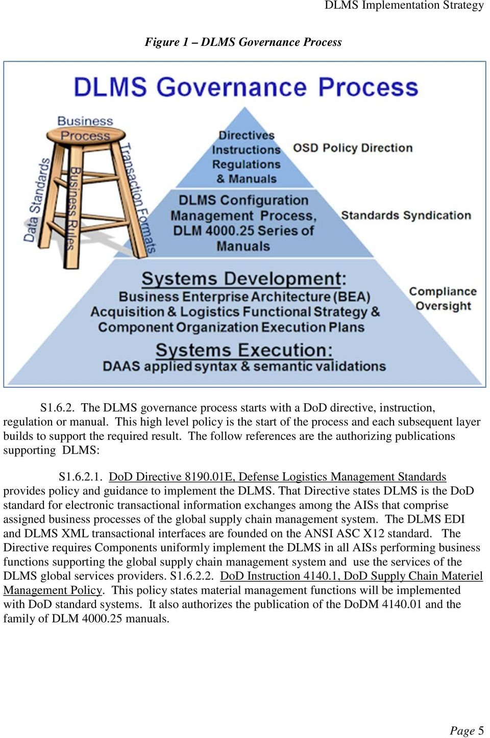 DoD Directive 8190.01E, Defense Logistics Management Standards provides  policy and