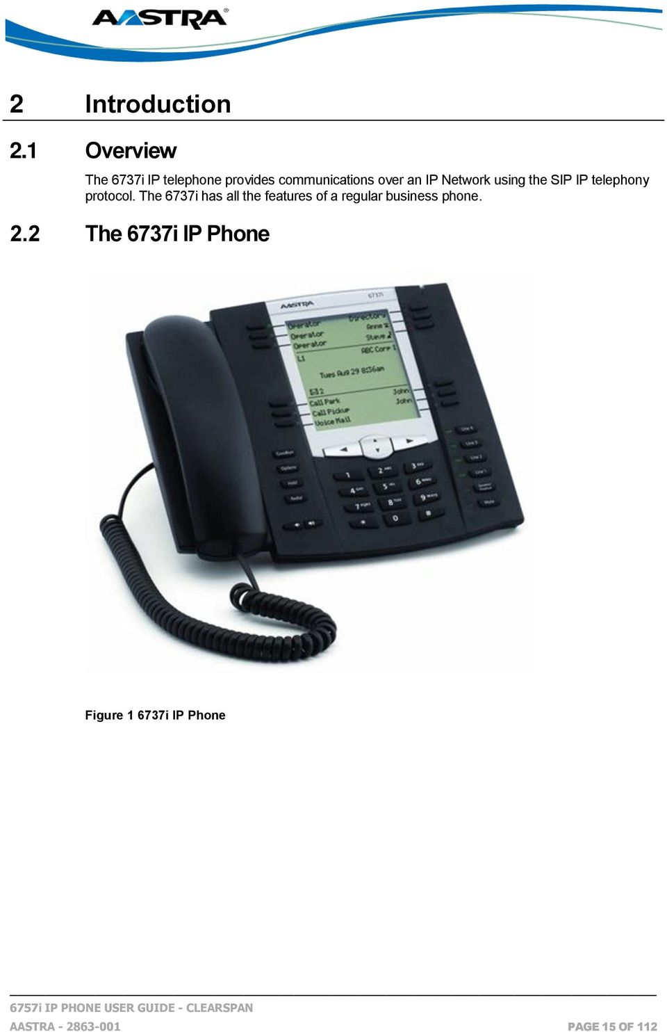 IP Network Using The SIP Telephony Protocol