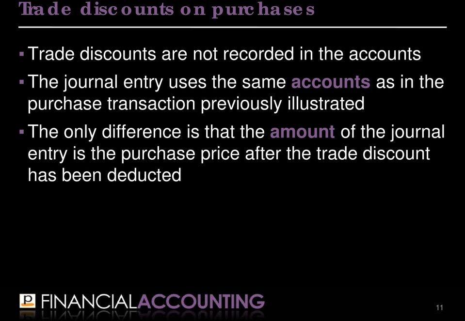 transaction previously illustrated The only difference is that the amount