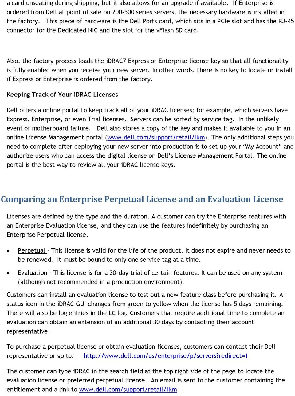 idrac7 Licensing Dell Technical White Paper Dell Enterprise