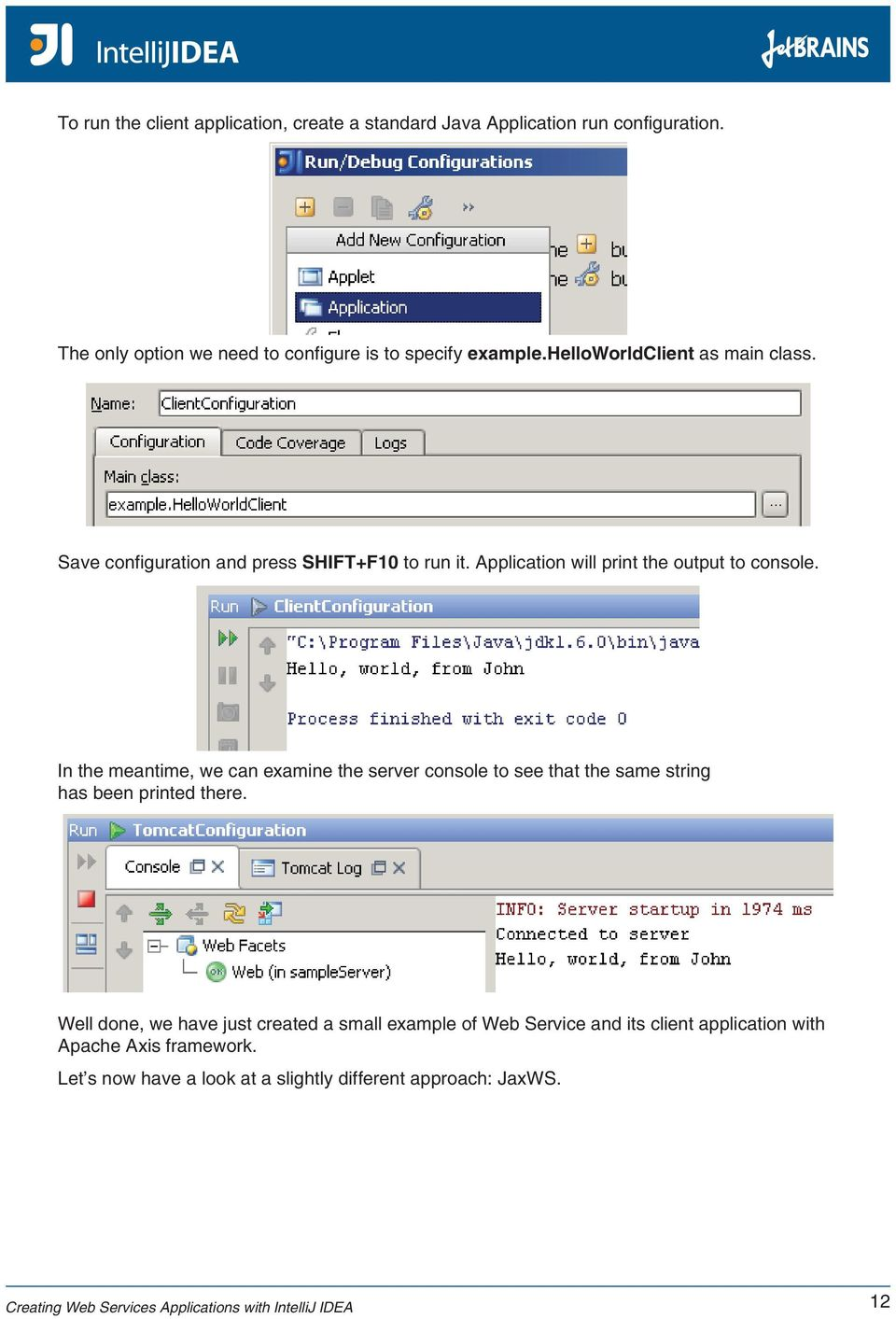 Creating Web Services Applications with IntelliJ IDEA - PDF