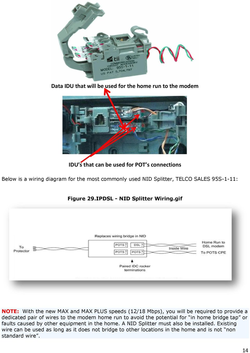U Verse Ipdsl Hsia With Cvoip Pdf At T Dsl Work Wiring Diagram Gif Note The New Max And Plus Speeds 12 18 Mbps