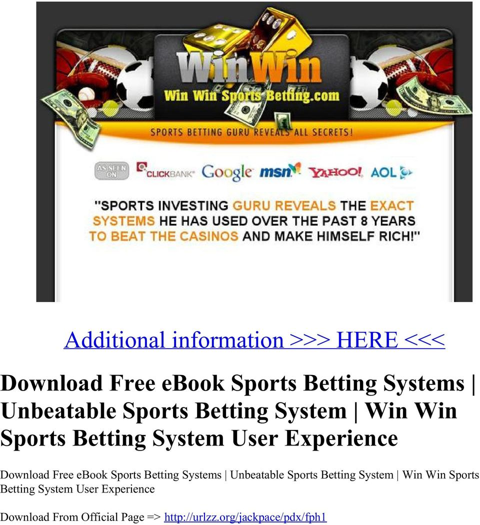 Diy sports betting systems pdf free spread and total in sports betting