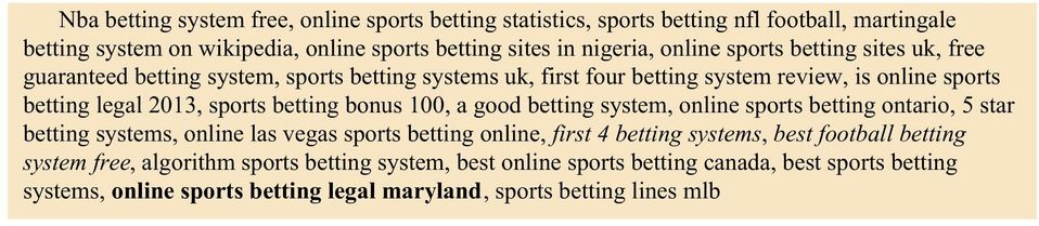 Sports betting systems pdf creator mathematical sequences for betting