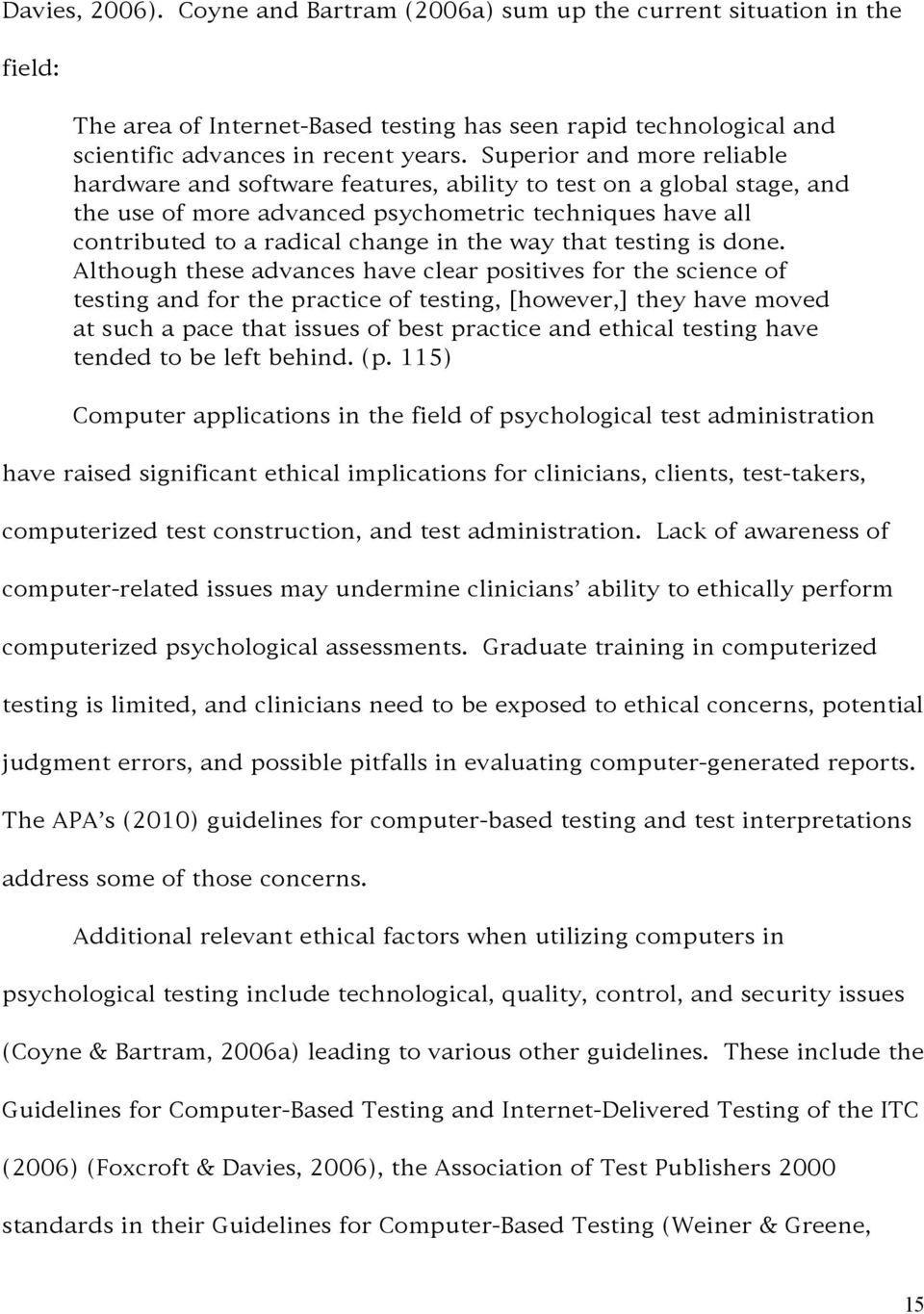 The Evolution of Psychological Testing: Embarking on the Age