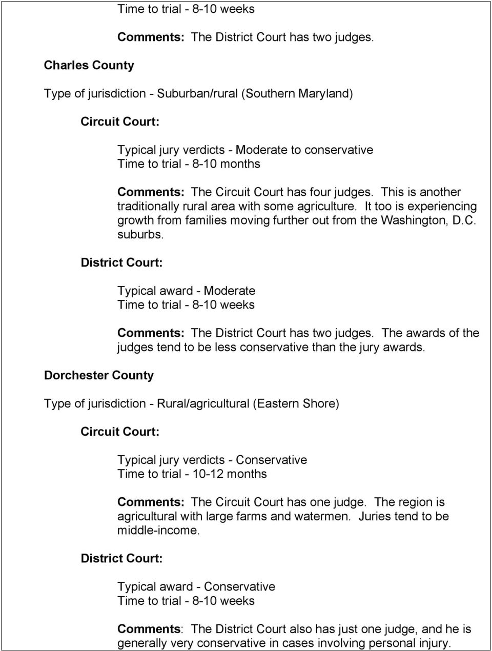Type of jurisdiction - Rural (Far western panhandle of Maryland