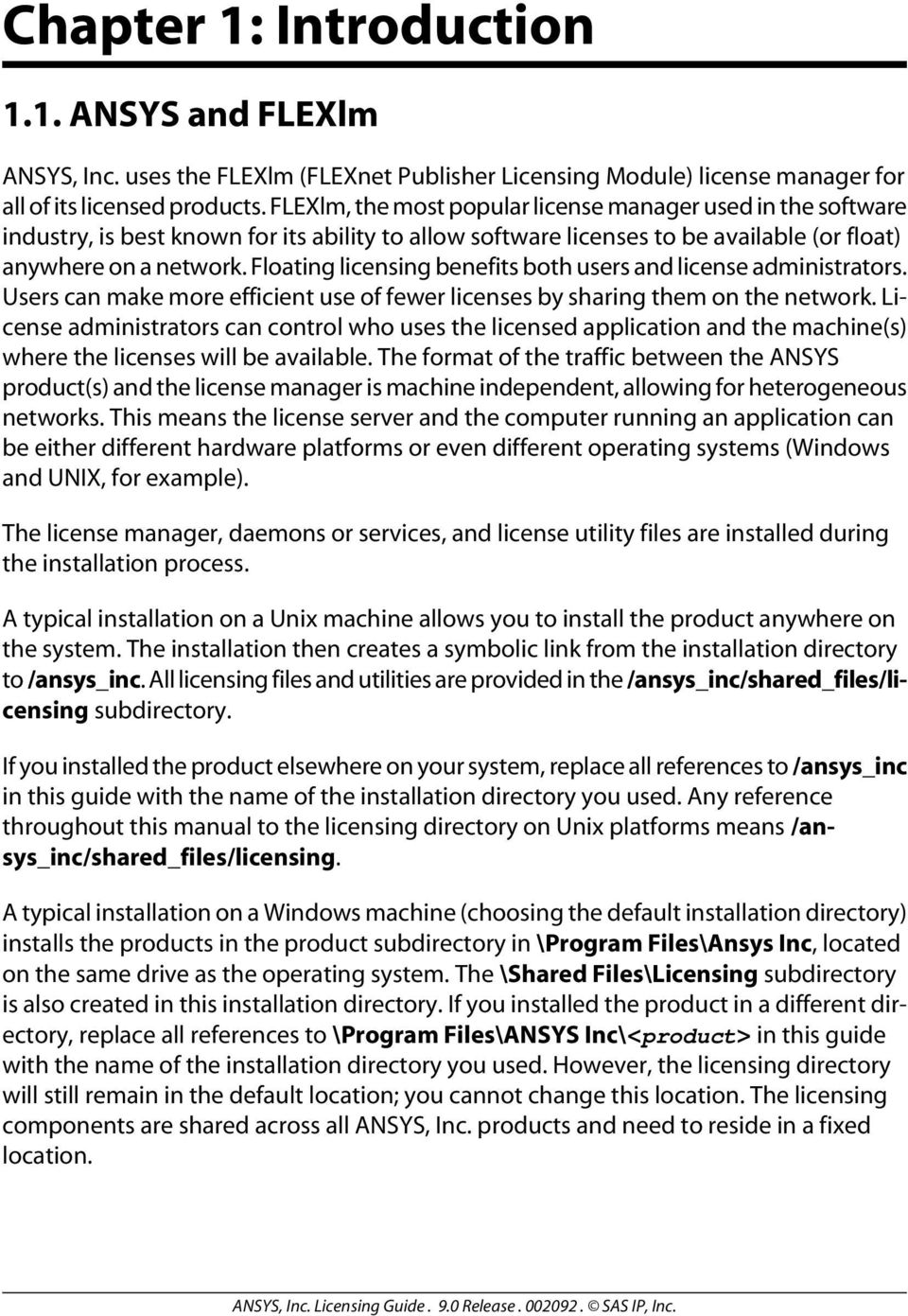 ANSYS, Inc  Licensing Guide - PDF