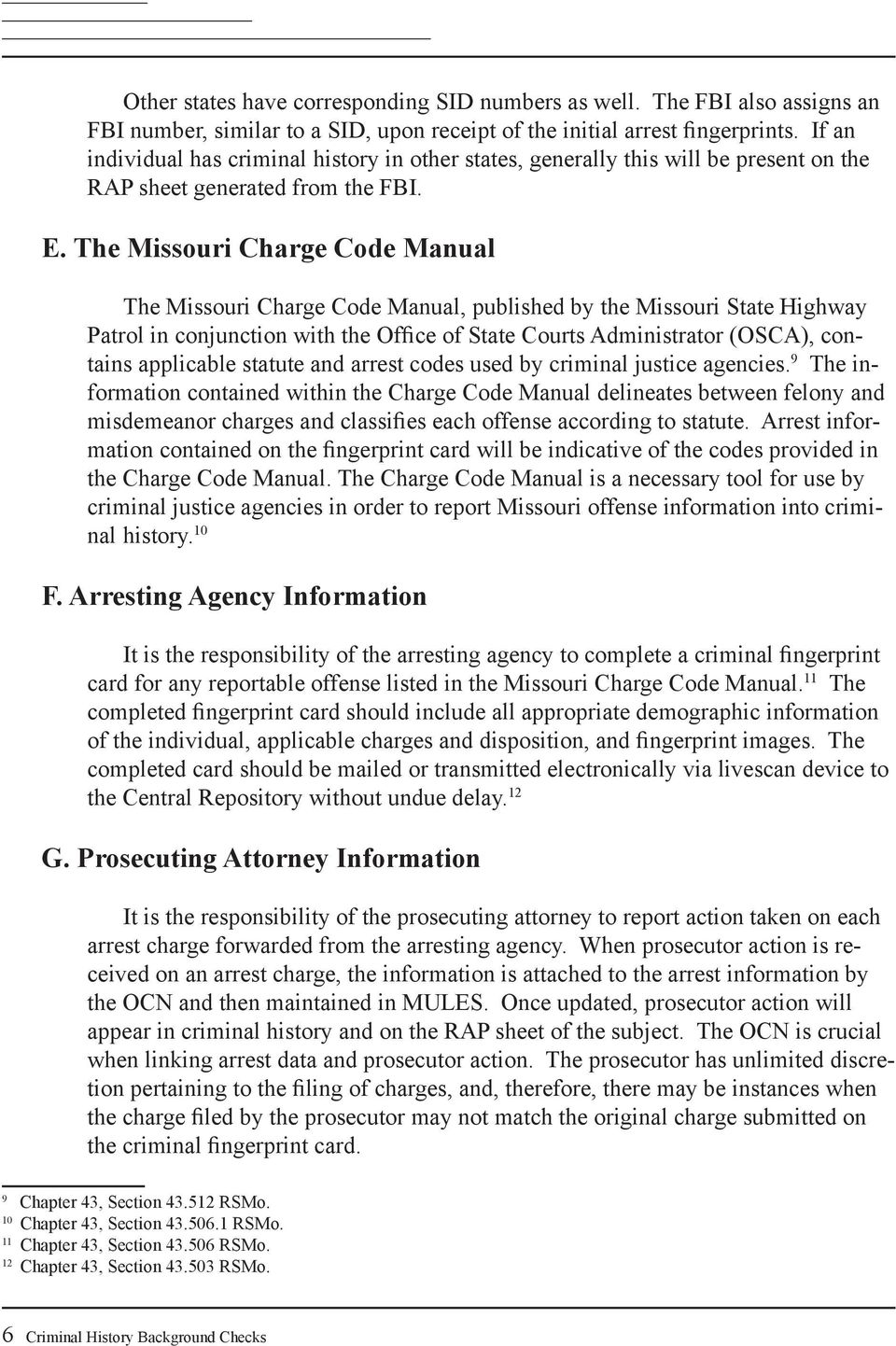 Missouri State Highway Patrol Criminal Justice Information