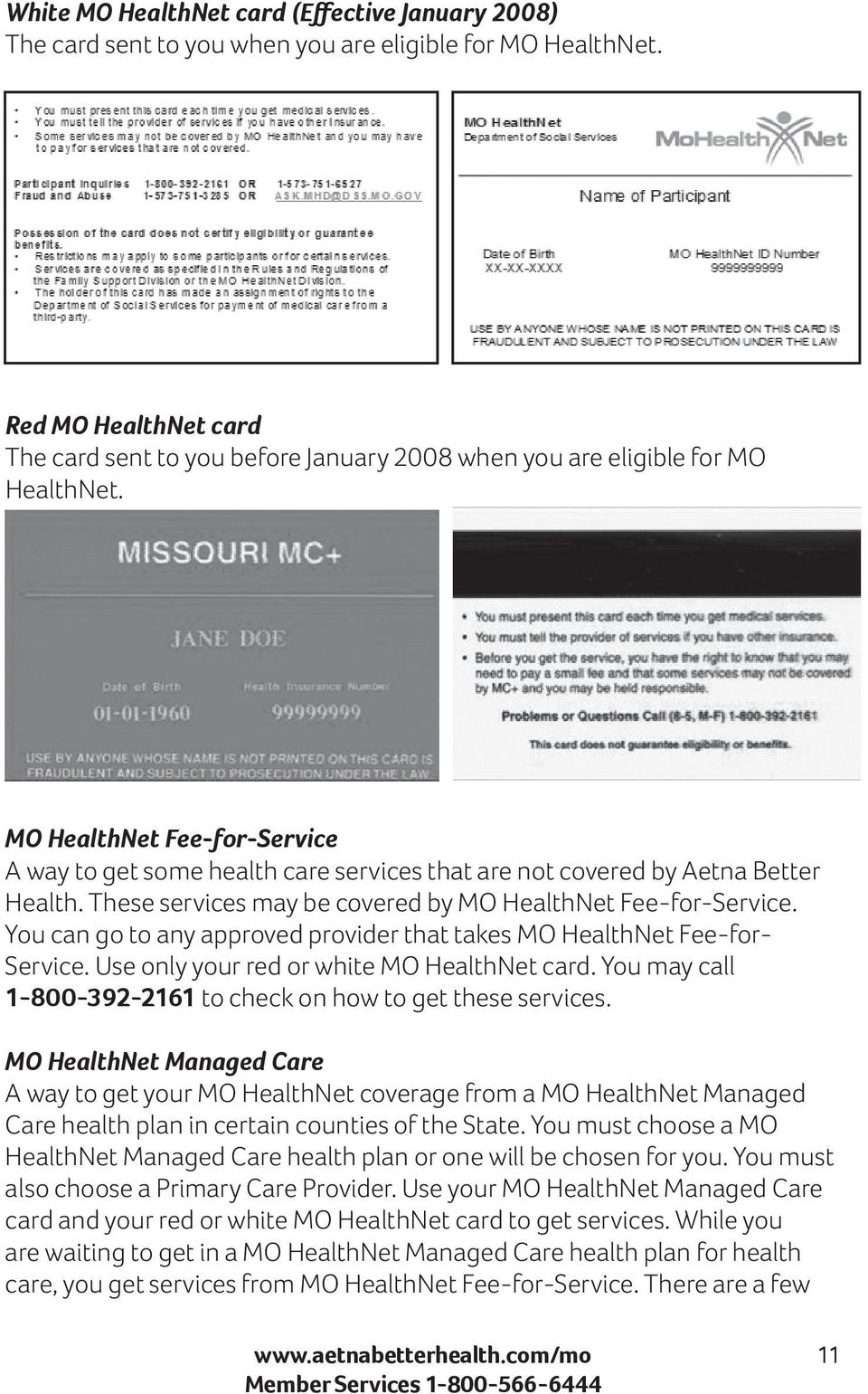 Aetna Better Health Of Missouri Learn About Your Health Care