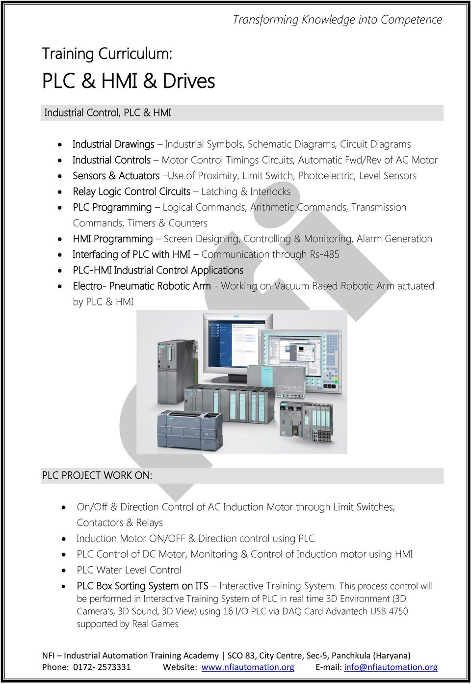 Industrial Automation Training Academy Plc Hmi Drives Dc Motor Control Using Relay Arithmetic Commands Transmission Timers Counters Programming Screen Designing Controlling