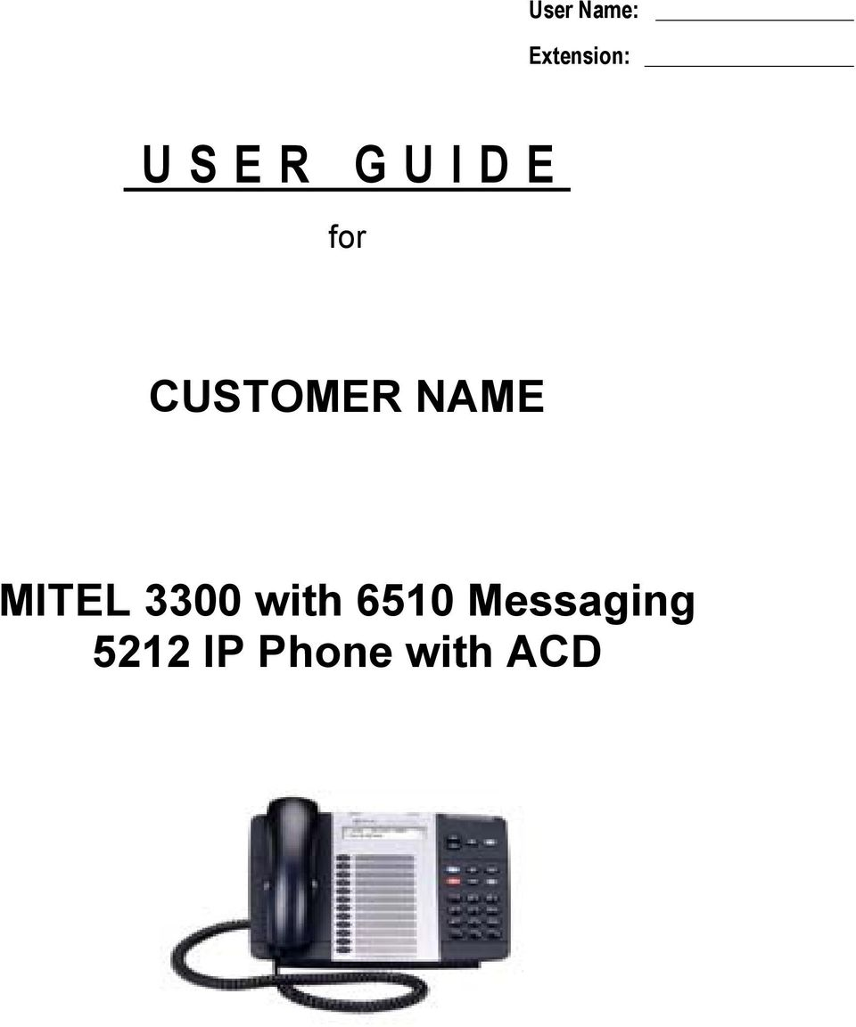 NAME MITEL 3300 with 6510