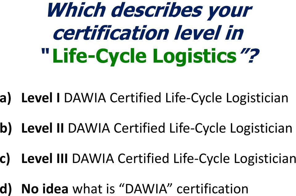 Introduction to Life Cycle Logistics Management - PDF