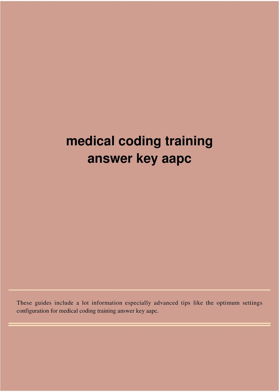 Medical coding training answer key aapc pdf transcription fandeluxe Images