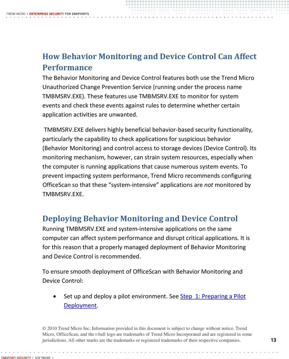 Best Practices for Deploying Behavior Monitoring and Device Control