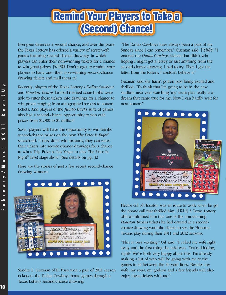 Texas Lottery Players Have a Chance to Come on Down! - PDF