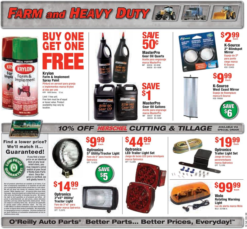 WINTER SAVE $ 8 CARE  Your Choice  O Reilly Auto Parts Better Parts