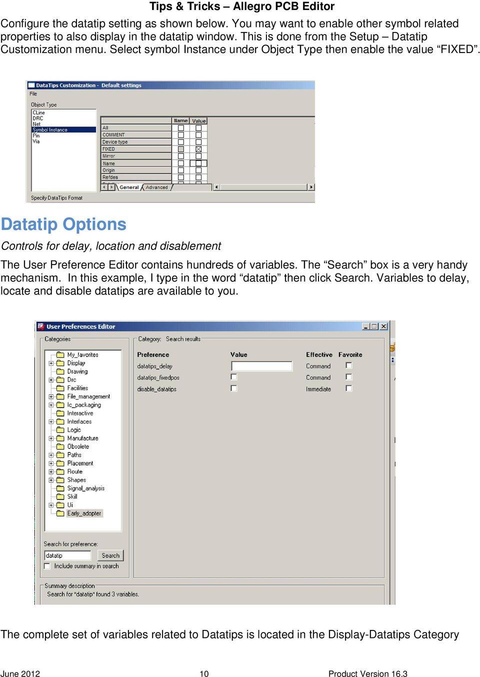 Tips & Tricks. Allegro PCB Editor. April Ed Hickey Product Engineer ...