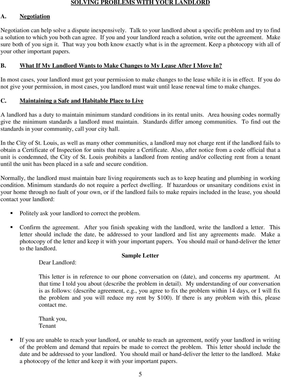 YOU AND YOUR LANDLORD - PDF
