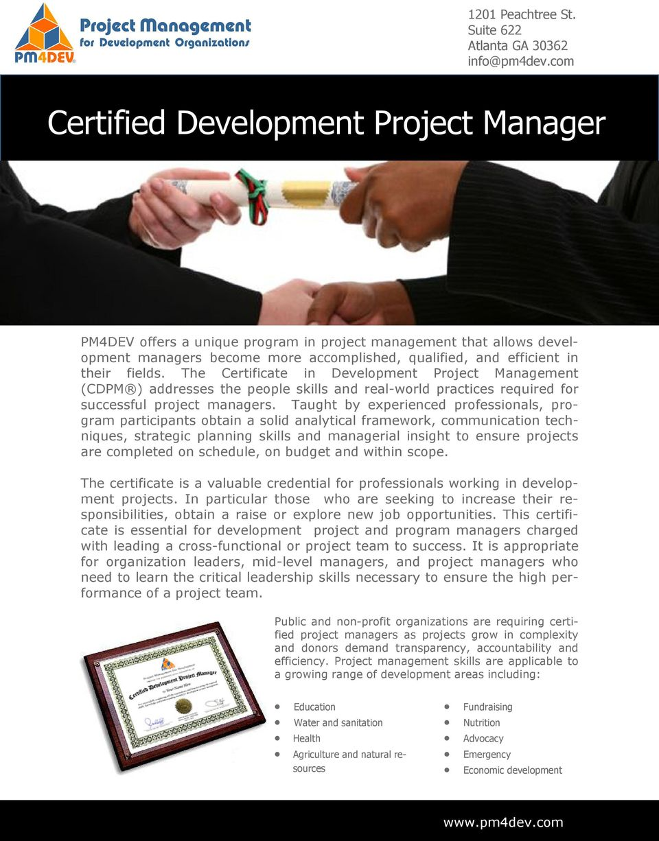 Certified Development Project Manager Pdf