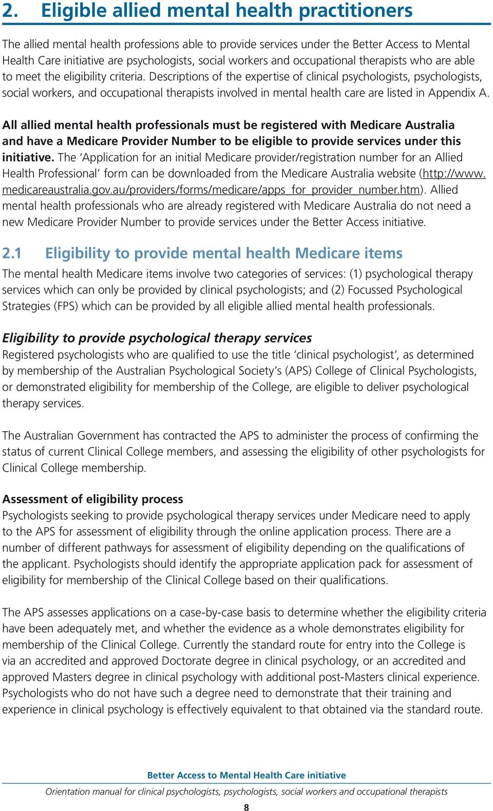 Better Access To Mental Health Care Initiative Pdf