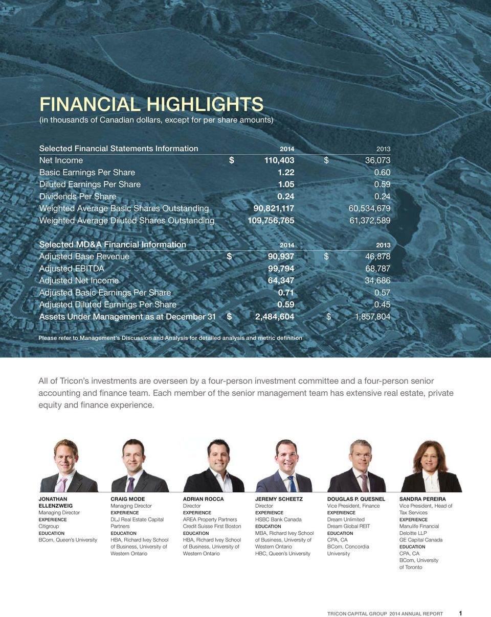 TRICON CAPITAL GROUP 2014 ANNUAL REPORT - PDF
