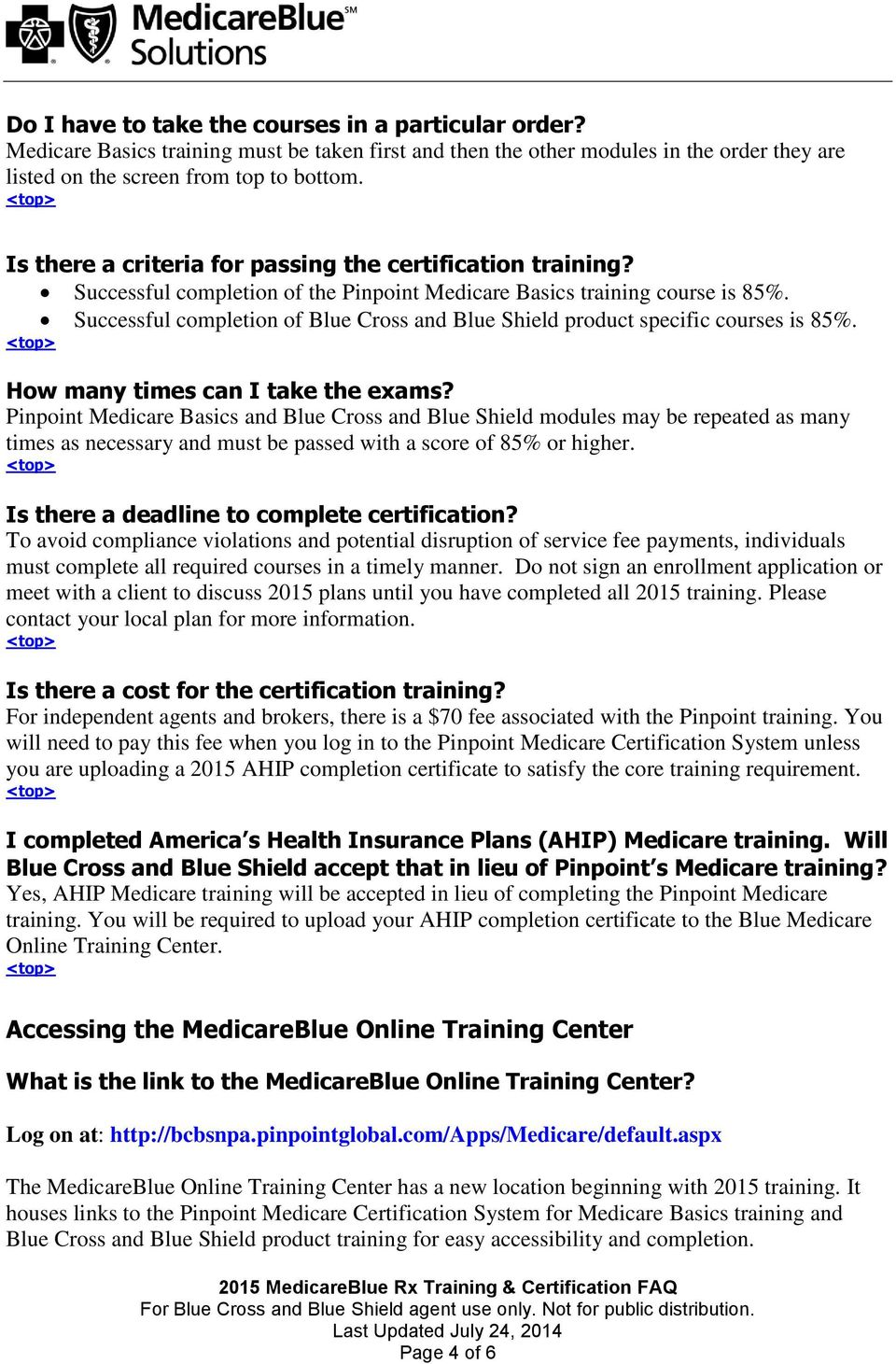 Training And Certification Frequently Asked Questions Pdf