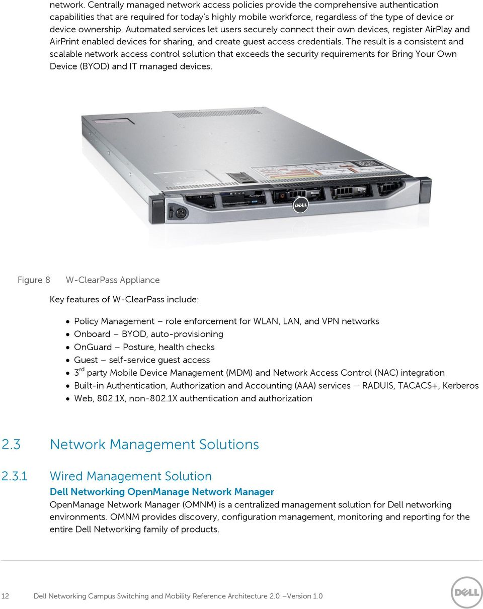 Dell Networking Campus Switching and Mobility Reference