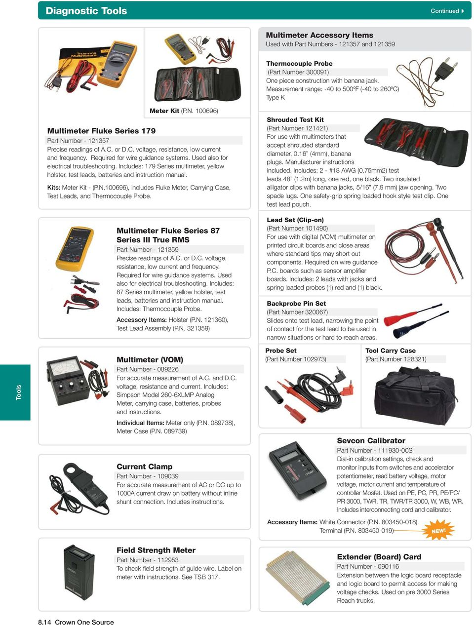 Section 8 Tools Contents Crown Branded Tool Program Pdf Handy Multimeter From College And Tested All Wire Combination Required For Guidance Systems Used Also Electrical Troubleshooting Includes 179 Series
