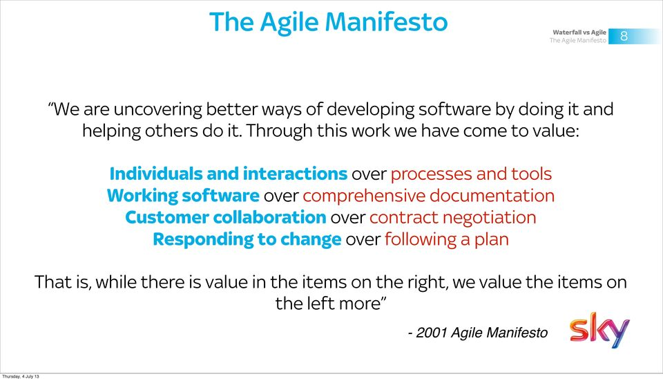 The Agile Movement An introduction to agile software