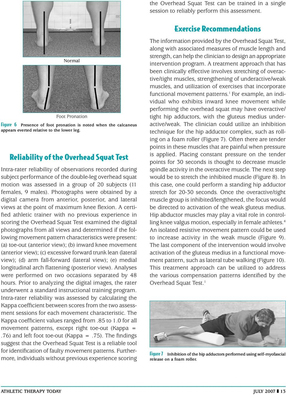 Clinical Movement Analysis to Identify Muscle Imbalances and