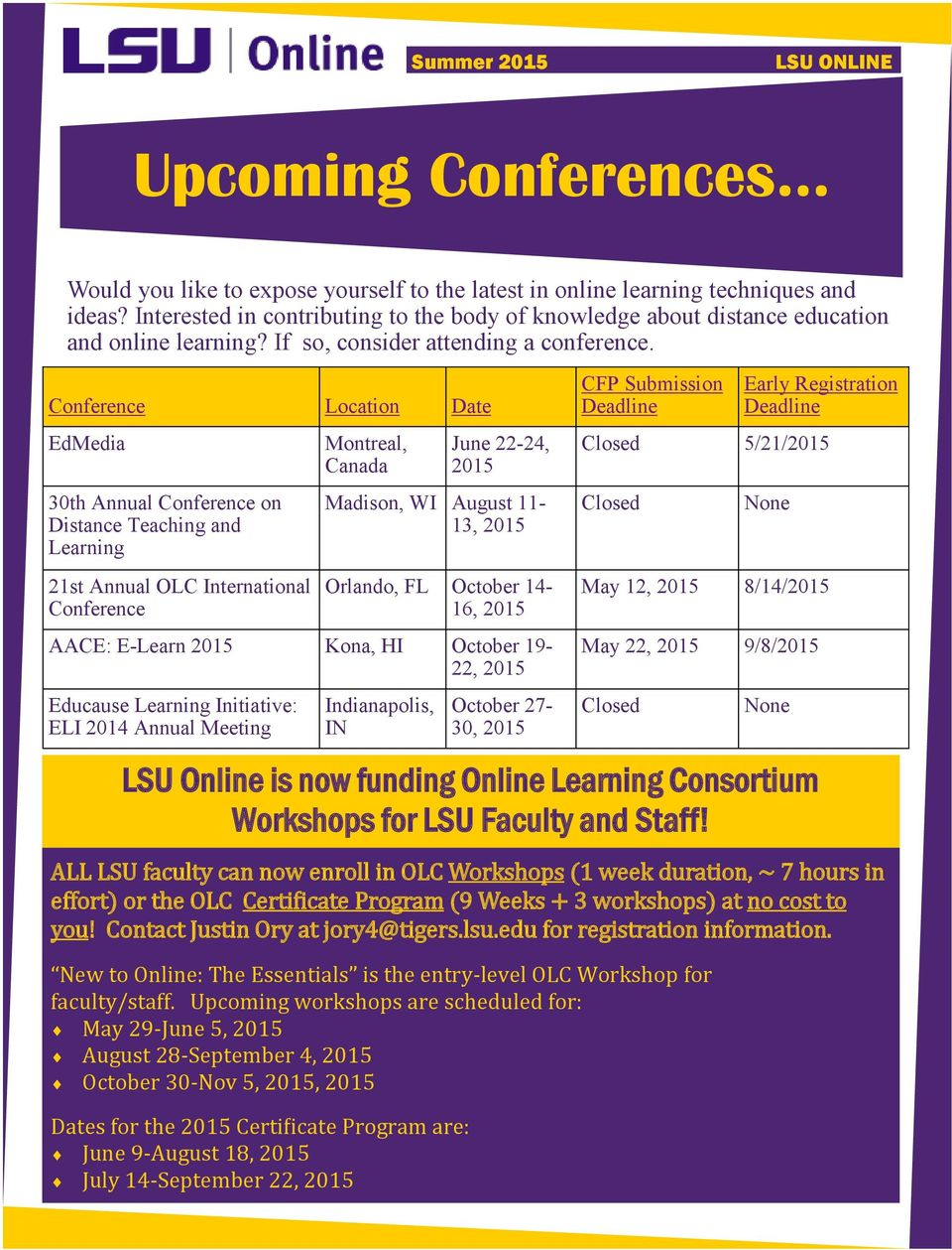 LSU ONLINE  New Degree Programs! LSU Online is offering new