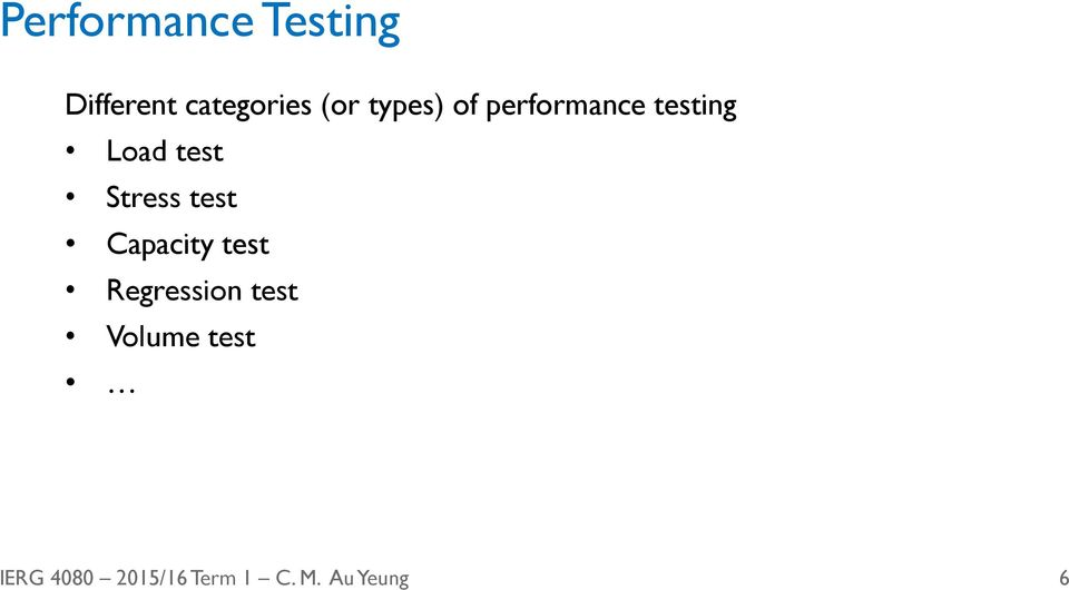performance testing Load test